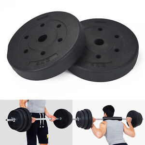 "Weight Plates Set 20kg Standard 1"" Vinyl Barbell Dumbbell Lifting Training Discs"