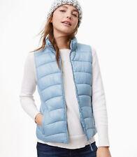 Loft Bayside Blue Puffer Vest Size L NWT Retail $79.50
