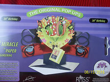 30th Birthday Card 3D  Pop Up Greeting by RUSS  ~ Cake Topper ~ Centerpiece  NIB