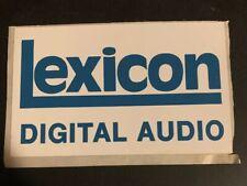 Lexicon Digital Audio Sticker / Decal