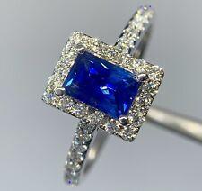 30% Off 1.7 Ct Royal Blue FLAWLESS Ceylon Sapphire D VS1 Diamond Ring 14k W Gold