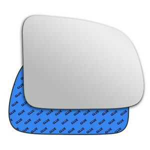 Right wing adhesive mirror glass for Suzuki Grand Vitara 1989-1998 113RS