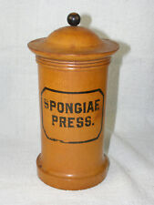 Antique Turned Wood Pharmacy Apothecary Jar with Lid - Spongiae Press.