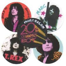 5 MARC BOLAN BADGES. 70's pop, glam rock, T Rex.