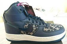 Nike Air Force 1 Hi Lib QS Khaki Blue Ladies Uk 4.5 Bnib 706653 300 Liberty