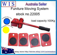 5pcs Furniture Lifter Moves Triple Wheels Mover Sliders Kit Home Moving System