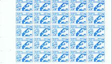 1971 STRIKE MAIL EUROPA MAIL SERVICE  2/6d TRAIN & MAP PART SHEET OF 25 MNH