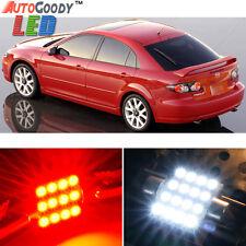 12 x Premium Red LED Lights Interior Package Kit for 2003-2008 Mazda 6