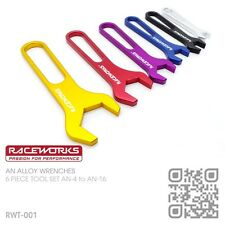RACEWORKS AN BILLET ALLOY SPANNERS/WRENCHES AN-4 to AN-16 BRAIDED HOSE FITTINGS