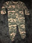 New Tiny Trooper Digital Camo One Piece Long Sleeve Outfit Size M (3-6M)