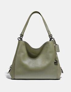 💚 Coach 79574 Dalton 31 Leather Hobo Bag Shoulder Purse Handbag Light Fern NWT