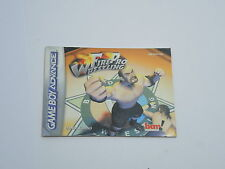 FIRE PRO WRESTLING manual only Nintendo Game Boy Advance GBA DUTCH