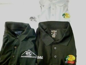 Bass Pro Shops Mens XL Polo Shirt Lot of 4 shirts, WorldWide Sportsman, Red Head