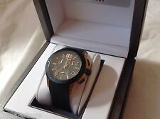 MENS R&Co 'Suisse' by Rotary Chrono date gold tone hand made LTD EDITION watch
