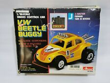 Vintage RC Toy Asahi Atcomi VW Beetle Buggy Remote Car Japan 1/28 Boxed