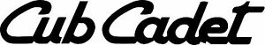 CUB CADET DIE CUT DECAL / STICKER - Set of 2 - BLACK
