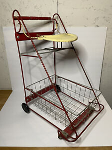 VTG Amsco Doll E Kidd E Toys Metal Toy Shopping Grocery Cart Let's Play Grown Up