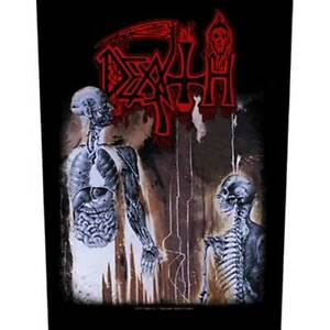 """DEATH - """"HUMAN""""  - SEW ON PRINTED LARGE SIZE BACK PATCH - OFFICIAL LICENSED"""