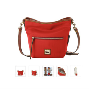 Dooney & Bourke Wayfarer Nylon Small Hobo Crossbody Red MSRP 175$