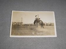 Vintage 1930s Bucking Bronco Horse Sweetwater Texas Rodeo Cowboy Postcard