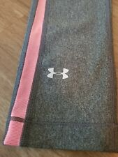 Under Armour Heat Gear Womens Carbon Heather Pink Athletic Compression Capris XS