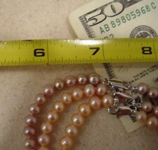 wholesale jewelry genuine PINK PEARL necklace 15 Inches large HOLIDAY GIFT SALE