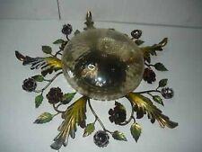 Plafón Lámpara de araña oro Hoja de hierro con vidrio