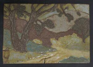 Contemporary Arts & Crafts California Landscape Tile