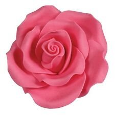 Culpitt BRIGHT PINK 63mm XL Edible Sugar Soft Roses Wedding Cup Icing Decoration