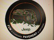 2007 - 2013 Jeep Wrangler JK SPARE TIRE COVER OEM MOPAR tire cover 82210886AB