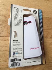 New Body glove White Pink Hybrid Case Cover For Samsung Galaxy Avant G386T