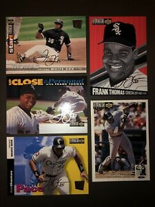 Frank Thomas five card lot Collectors Choice all silver signature parallel cards