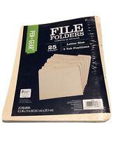 Pen+Gear  File Folders, Letter Size, 25 COUNT 3 TAB POSITIONS NEW