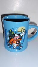THE DISNEY STORE MUG CUP 3D GOOFY FIXING A TELEVISION LARGE HEAVY MUG EUC