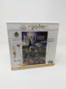 """Harry Potter 1000 Pieces Puzzle Jigsaw 20"""" x 28"""" Wizarding World"""