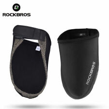 ROCKBROS Cycling Shoe Covers Winter Windproof Warm Half Overshoes Black