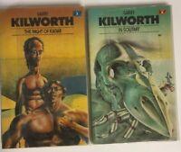 2 Garry Kilworth Books - In Solitary & The Night Of Kadar 1979 Vintage Sci-Fi