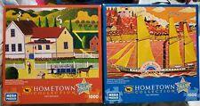 Lot Of 2 Hometown Collection Ocean Star And General Store Artist Heronim Puzzles