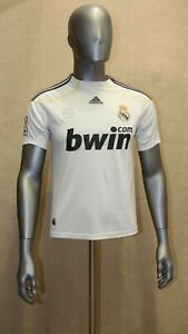 Maillot Réal Madrid Adidas domicile 2009/2010 #9 RONALDO taille 12/14 ans
