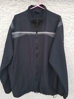 NIKE GOLF Men's Windbreaker Full Zip Jacket Black/Gray Size XXL