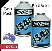 R134a AUTO CAR & TRUCK AIR CONDITIONING 12oz 340gm CANS REFRIGERANT TWIN PACK.