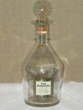 Vtg 1965 Old Forester Kentucky Bourbon Whiskey Holiday Decanter Bottle