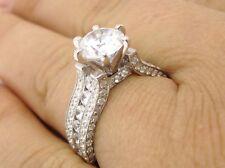 2.10CT ROUND CUT ANTIQUE DIAMOND ENGAGEMENT RING  KR110