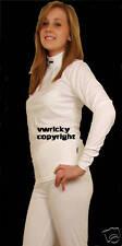 2 Pièces Femme Blanc Thermiques Taille 8 Sous-Vêtement Thermique