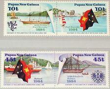 PAPUA NEUGUINEA NEW GUINEA 1984 483-86 608-09 Cent. Founding Colonies Ships MNH