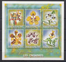Mali - Michel-Nr. 2386-2391 postfrisch/** als Kleinbogen (Blumen / Orchideen)