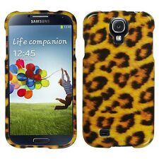 Samsung Galaxy S4 i9500 - HARD PROTECTOR CASE COVER GOLD LEOPARD CHEETAH