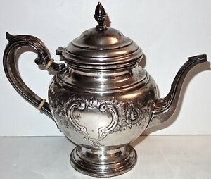 """ANTIQUE International STERLING Hand Chased LORD SAYBROOK 9"""" TEAPOT~750G~26.4OZ!"""