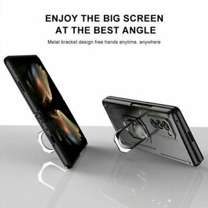 Luxury Hybrid Armor Ring Stand Holder Cover Case For Samsung Galaxy Z Fold 2 5G