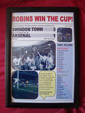Swindon Town 3 Arsenal 1 - 1969 League Cup final - framed print